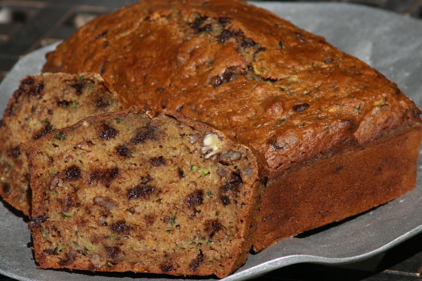 Basic Zucchini Bread or Chocolate Chip Zucchini Bread
