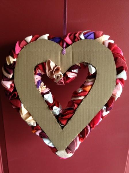 Felt Circles Valentine Wreath Noelle O Designs