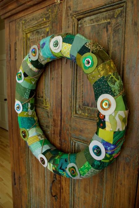 St Patrick S Day Or Springtime Door Wreath Noelle O Designs
