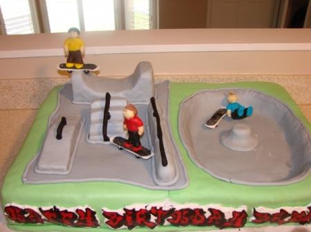 Making A Half Pipe Skate Ramp Cake Noelle O Designs