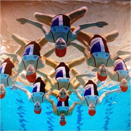 synchronized swimming, vintage swimwear