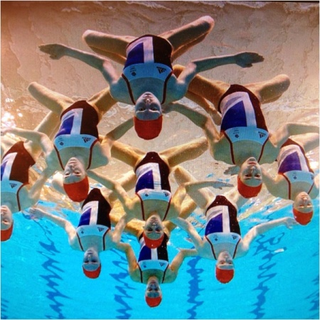 synchronized swimming, vintage swimwear