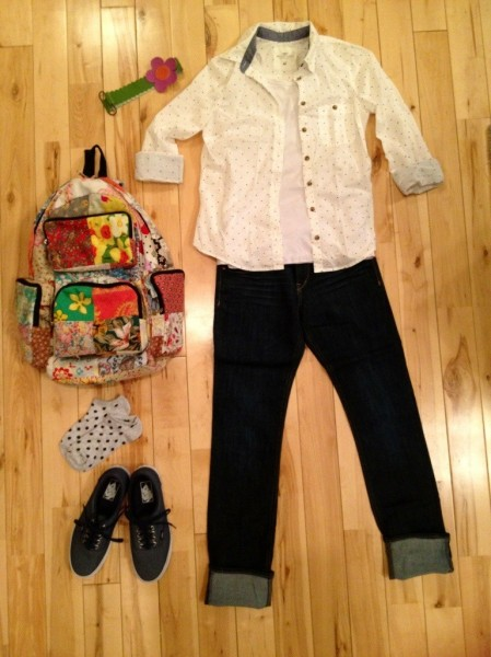 back to school outfit knolling