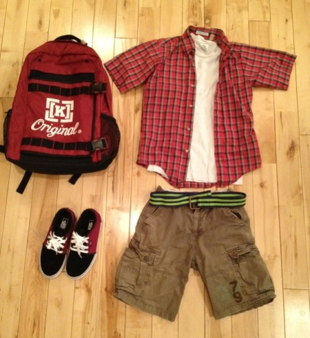 back to school outfit knolled