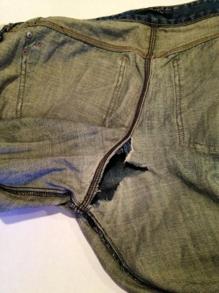 hole in crotch of jeans