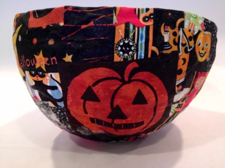 Halloween fabric bowl