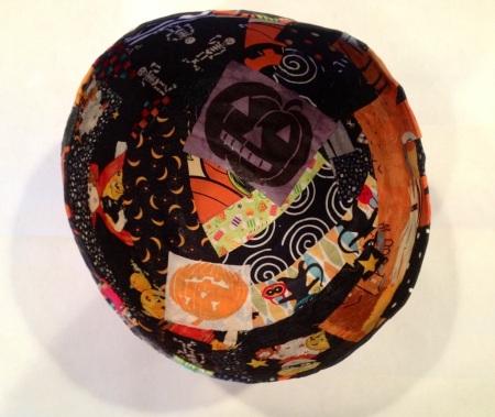 making a fabric bowl