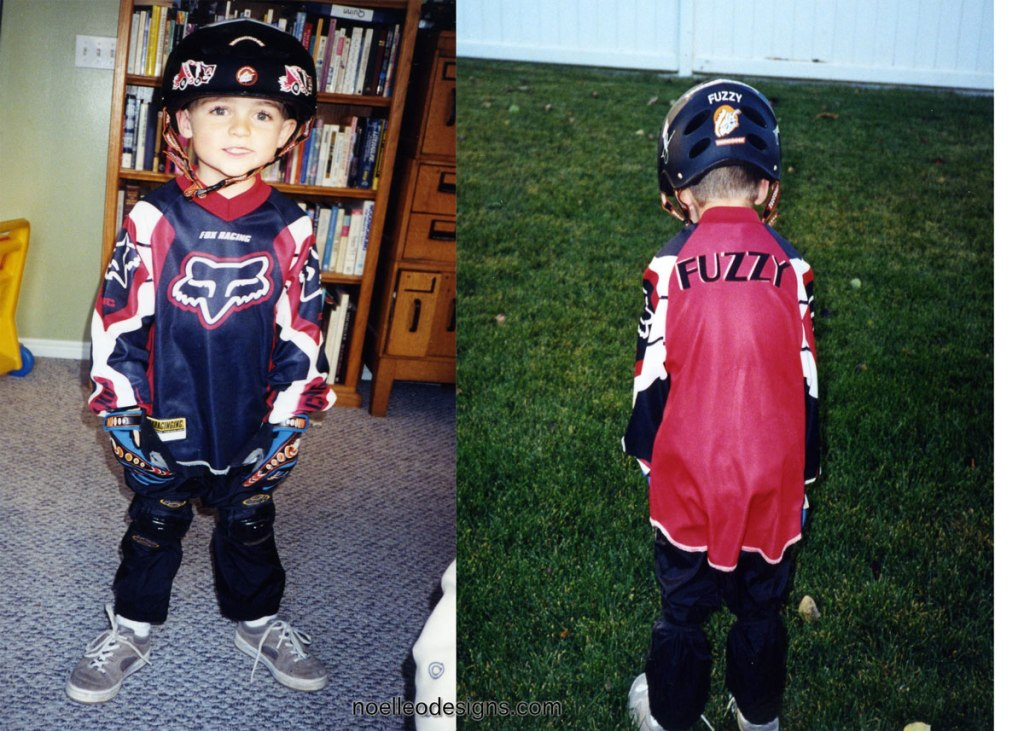 Halloween costume gallery Fuzzy Hall BMX rider
