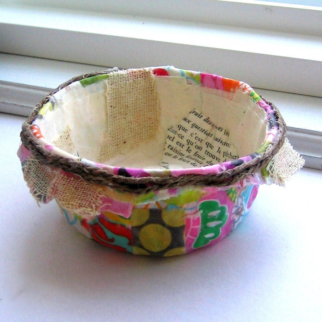 paper mache and fabric bowls noelle o designs